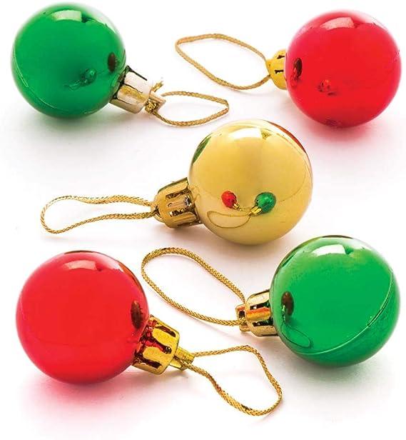 Baker Ross Bolas de Navidad en Miniatura (Pack de 12) de 30 mm ...