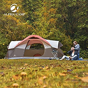 Image of ALPHA CAMP 6-8 Person Dome Family Tent Camping Tent Tents