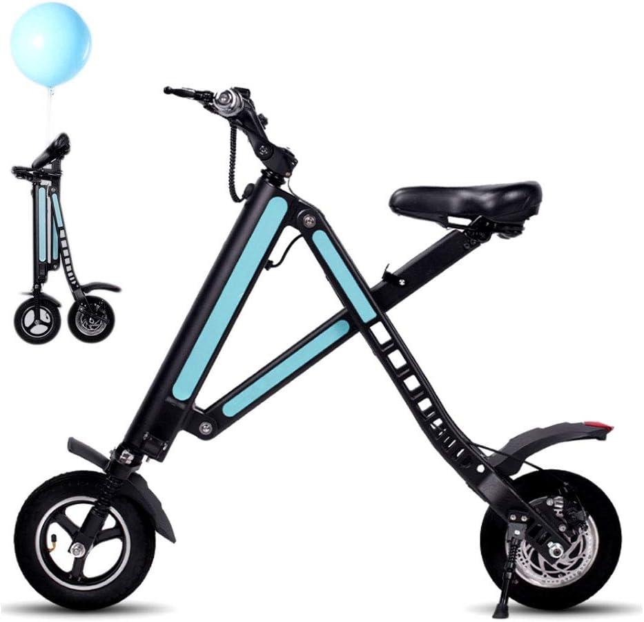 AMINSHAP E-Bike, Mini Bicicleta Eléctrica, Scooter Eléctrico Triciclo Plegable 14KG Scooter De Vehículo Electrónico Inteligente, Adecuado para Personas Que Necesitan Asistencia con Movilidad Y Viajes