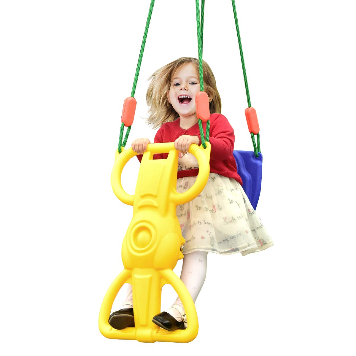 Costzon Rider Swing with Hangers, Wind Rider Glider Swing for Kids Playground (Rider Swing for 1 Kid)