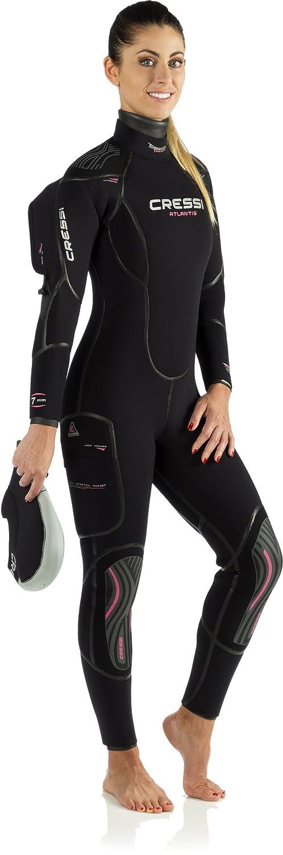 Amazon.com: Cressi traje Atlantis Semi-Dry para mujer, color ...