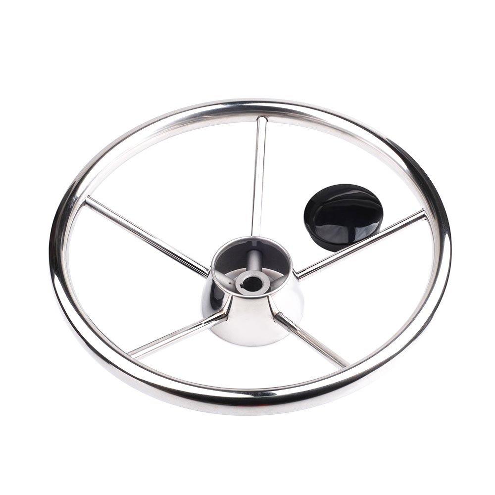 "M-ARINE BABY 316 Stainless Steel 1//2/""-20 Steering Wheel Center//Hub Nut"