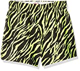 Soffe Girls' Big Authentic Cheer Short, Solar Yellow Zebra, Medium