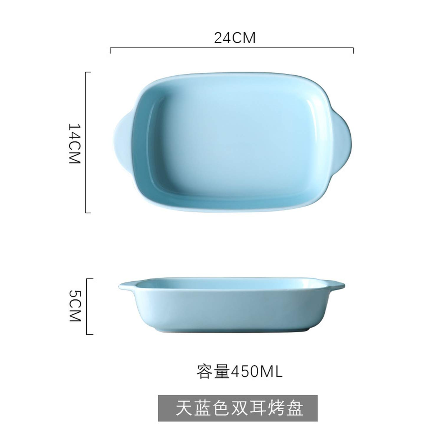 Cheese Baking Dish Microwave Oven Plate Ceramic Oven Tableware Creative Dishes Home Baking Bowl Cutlery,blue
