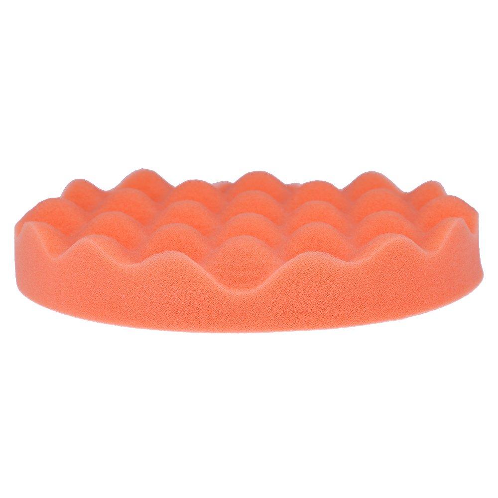 QUIOSS Car Foam Drill Polishing Pad Kit 7 Inch Buffing Pads Car Polisher Pad Kit Soft Wave Foam Waffle Sponge Set (Pack of 4) by QUIOSS (Image #6)