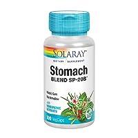 Solaray Stomach Blend SP-20B | Herbal Blend w/Cell Salt Nutrients to Help Support Stomach & Digestive Health | Non-GMO, Vegan | 50 Serv | 100 VegCaps