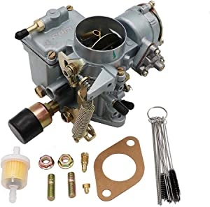 KIPA Carburetor For VW Beetles Super Beetles 1971-1979 Dual Port 1600cc Engine 12V Electric Choke 34 PICT-3 Volkswagen Bug Bus Thing Karmann Ghia Squareback Transporter, OEM # 113129031K 98-1289-B