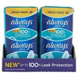 8 x Always Ultra Sanitary Towels Normal Plus with Wings 26 pads by Always