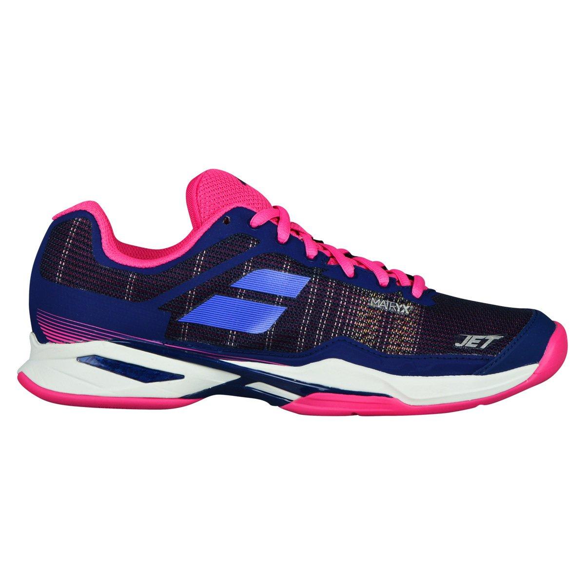 Babolat Chaussures de Tennis Femme Jet Mach i Clay 31s18688 Bleu/Rose