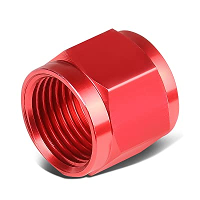 """4-An 1/4"""" Tubing Sleeve Nut Flare Fitting For Aluminum/Steel Hard Line (Red): Automotive"""