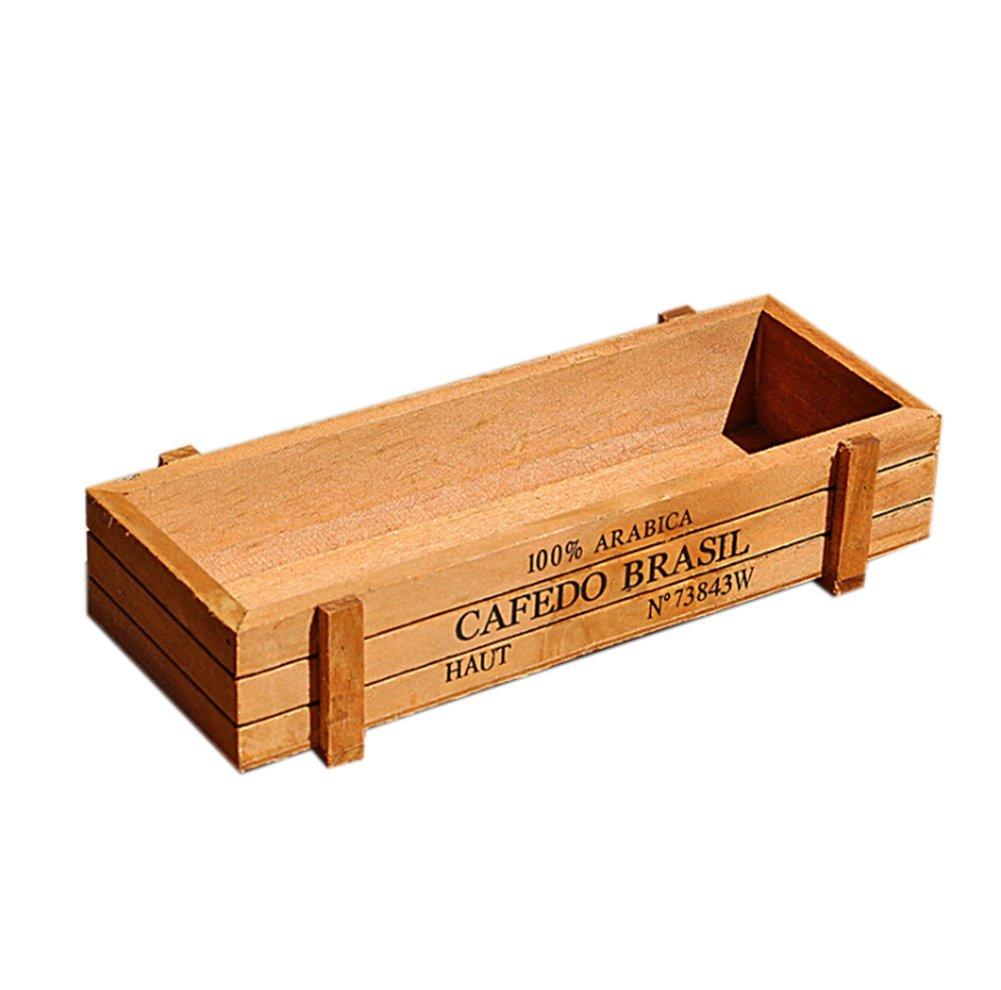 Skyeye Caja de Madera Cuadrada de la Caja de Madera de Las Macetas ...