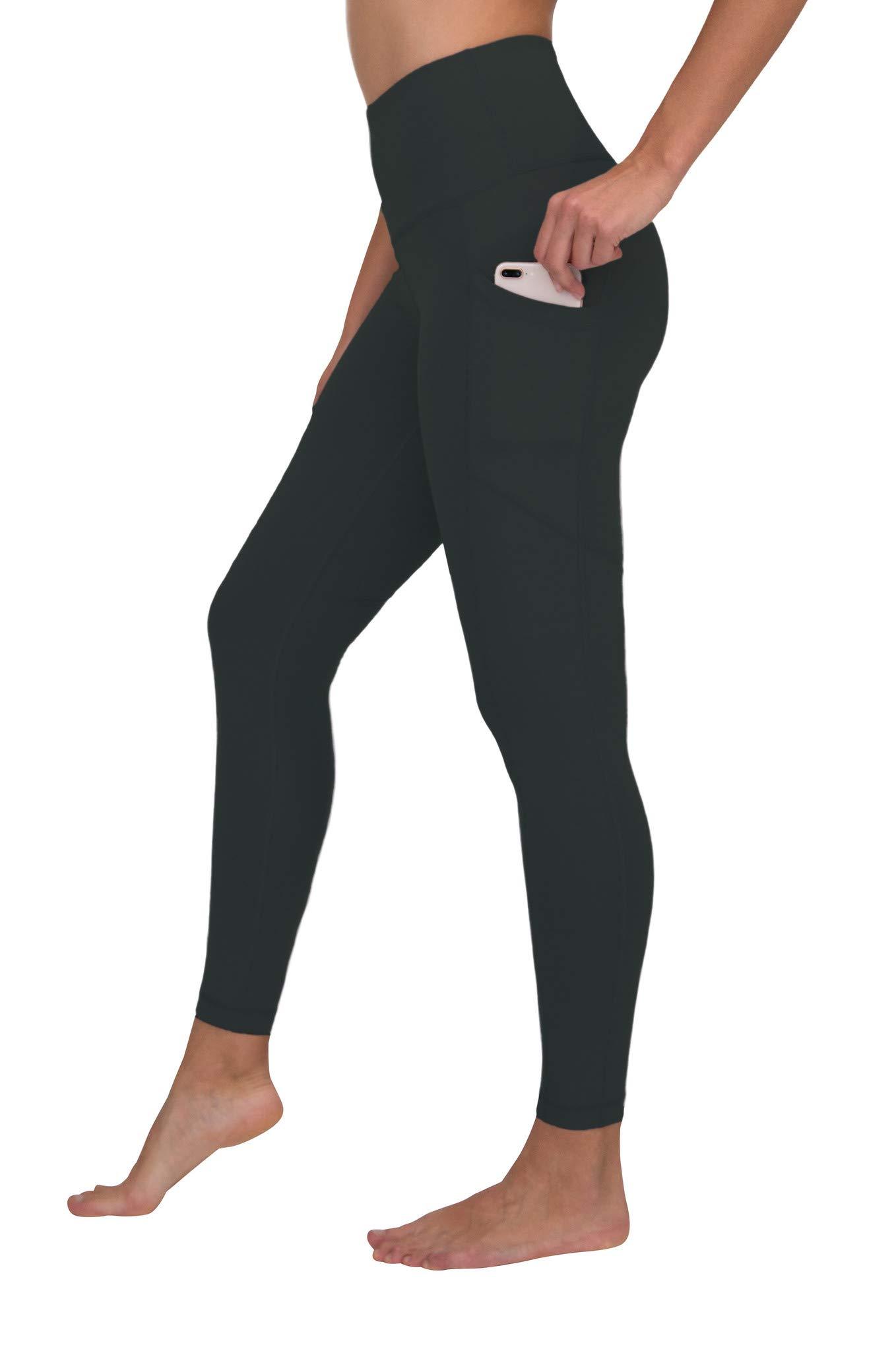 90 Degree By Reflex Women's Power Flex Yoga Pants - Spring Teal - XL by 90 Degree By Reflex