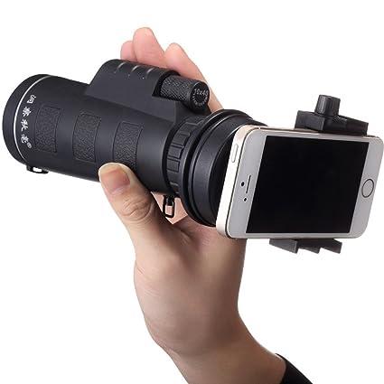OverDose Universal 10x40 Wandern Konzert Kamera Objektiv Monocular Für Smartphone + Handy Teleskop Universalhalter( Kein Smar