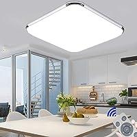 Ultraslim Regulable Led De Techo 36W Dormitorio Cuadrado Cocina Balcón Pasillo…