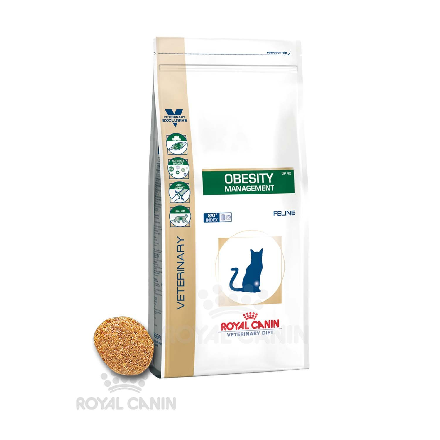 Royal Canin Obesity Management DP 42 Nourriture pour Chat 1, 5 kg 3182550711104