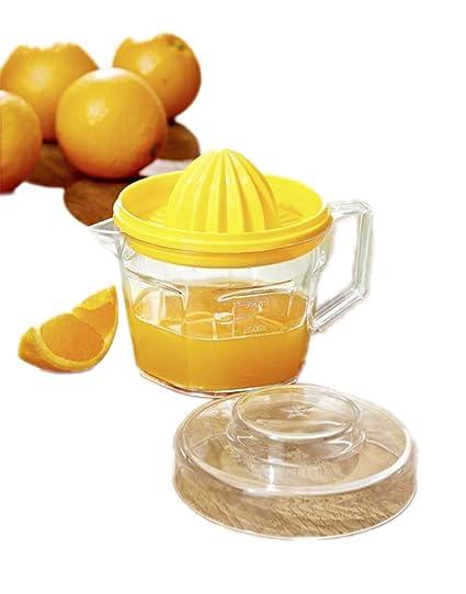 Funnythings Exprimidor de cítricos con Recipiente colector, exprimidor Manual de Naranja/limón, Tapa