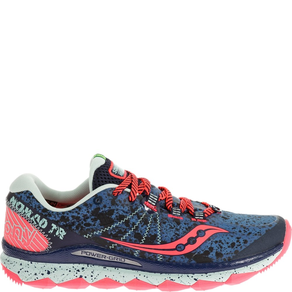Saucony Women's Nomad TR Trail Running Shoe, Blue/Navy, 8 M US