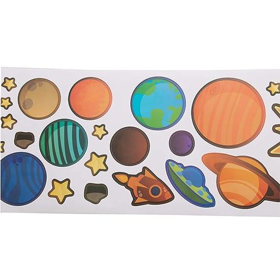 VIOYO Pegatinas de Pared Habitaciones para niños Estrellas Espacio ...