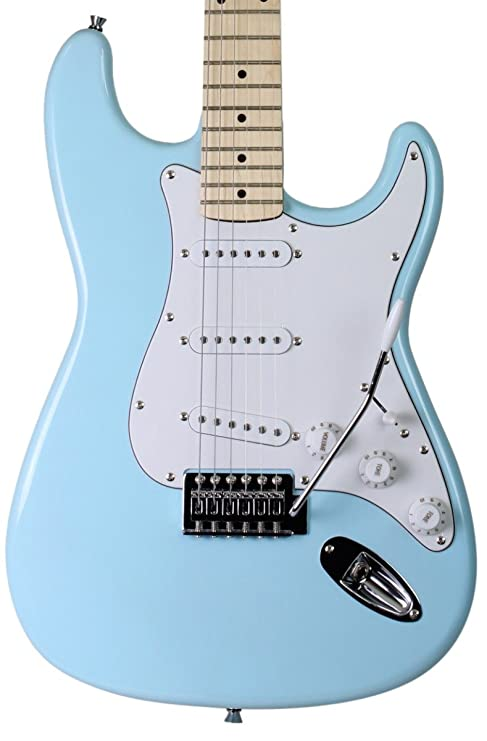 Jameson tamaño completo color azul guitarra eléctrica con trémolo