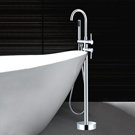 Floor Copper Bathtub Faucet/Vertical Bathtub Faucet/The Floor Double A