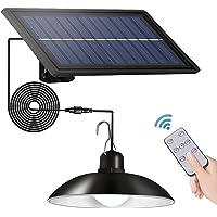 JYDirect Solar Lights Outdoor/Indoor,Remote Control Solar Powered Pendant Lights IP65 Waterproof,Auto On/Off Hanging…