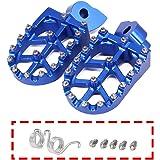 JFGRACING CNC Foot Pegs Rest Pedal Footpegs - Yamaha YZ65 2018 / YZ85 02-19 / YZ125 97-17 / YZ250 98-19 / YZ250F 01-19…