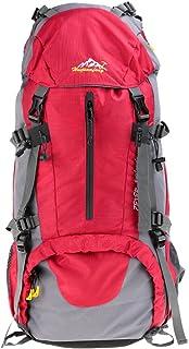 Lixada Sac à Dos avec Housse Imperméable pour Sport Randonnée Trekking Camping Backpack Voyage Paquet Alpinisme Escalade 50L