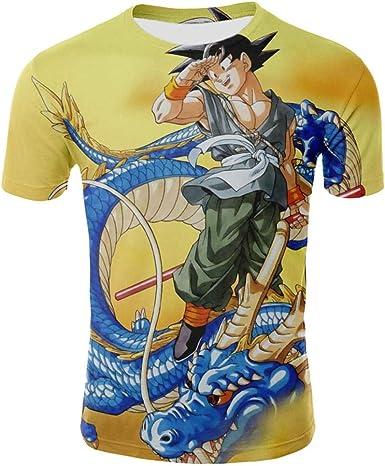 Camisetas,Dragon Ball 3D Animado Manga Corta,Patrón De Goku ...