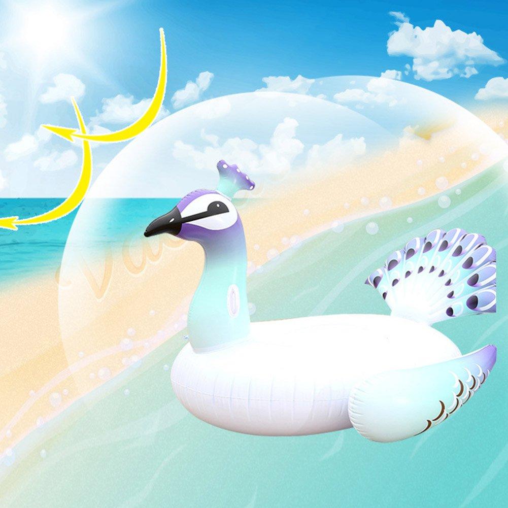 YAOBAO Flotador Gigante De La Piscina del Pavo Real, Piscina Inflable Divertida del Verano del Vinilo O Juguete De La Playa: Amazon.es: Deportes y aire ...