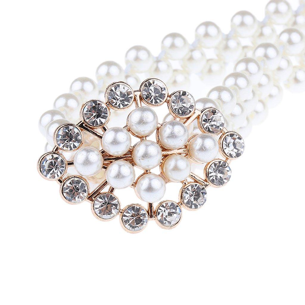 Homyl 68cm Cinture di Perla con Fibbia per Donna Sposa