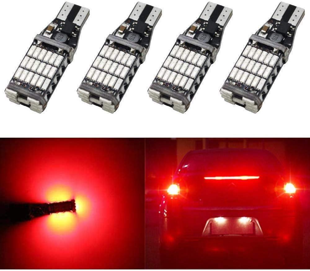 4 St/ückXW16W Rot 921 912 W2,1x9,5D Gl/ühlampe 12V-24V 5W Canbus Fehlerfrei Licht Original Ersatz Halogen Birne f/ür Drittes Hohes Bremslicht