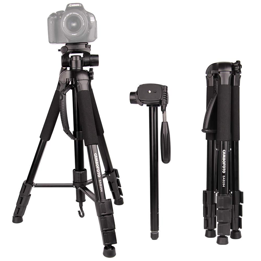 Amazon.com: Tripod for Camera-CAMBOFOTO 70\u201d 2 in 1 Tripod and