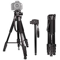 """CAMBOFOTO 70"""" Treppiede/Monopiede 2 in 1 - Treppiedi da Viaggio Leggero con Testina Panoramica a 3 Vie e Borsa per Fotocamera DSLR Canon Nikon e Smartphone (Carica: 4KG)"""
