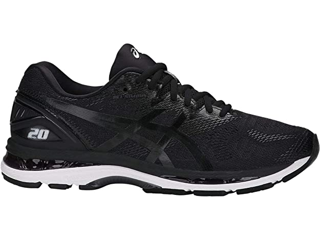 ASICS Men's Gel-Nimbus 20 Running Shoe, black/white/carbon , 6 Medium US