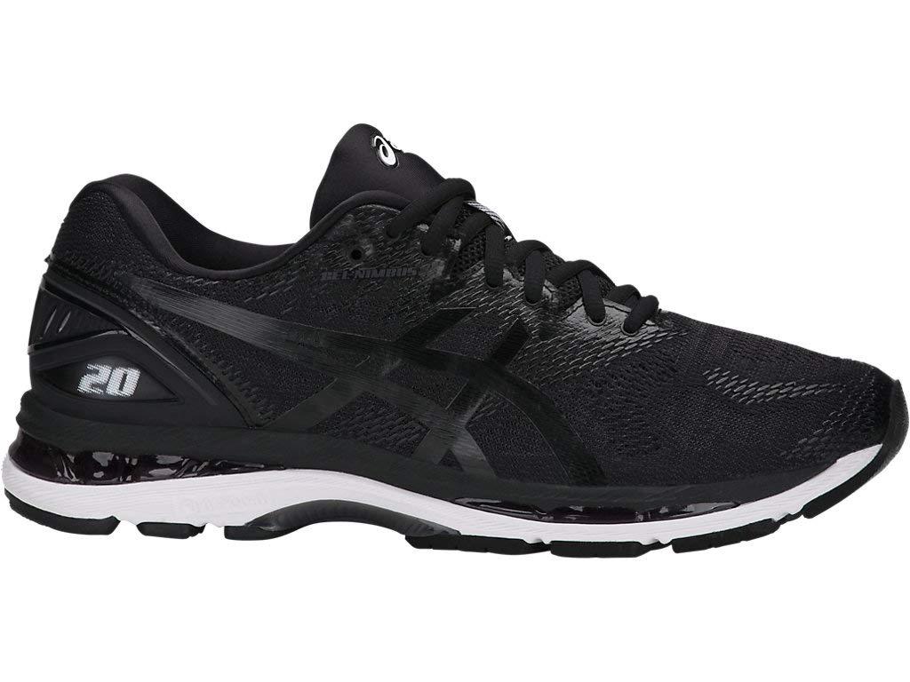 ASICS Men's Gel-Nimbus 20 Running Shoe, black/white/carbon , 6.5 Medium US