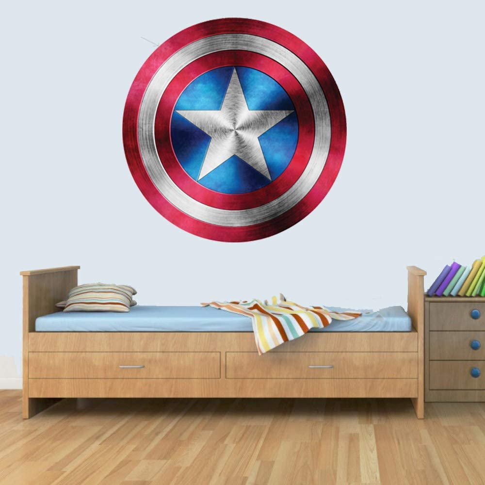 GNG Captain America Shield Superhero Kids Boy Girls Marvel Avengers Sticker d/écoratif mural Art Sticker 42cm