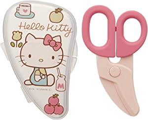 Hello Kitty Baby Food Scissors Cutter with Case : Pink