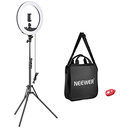 5f396730f1f6c5 Neewer 14-inch Outer Dimmable LED Ring Light Kit Includes: 30W Bi-Color