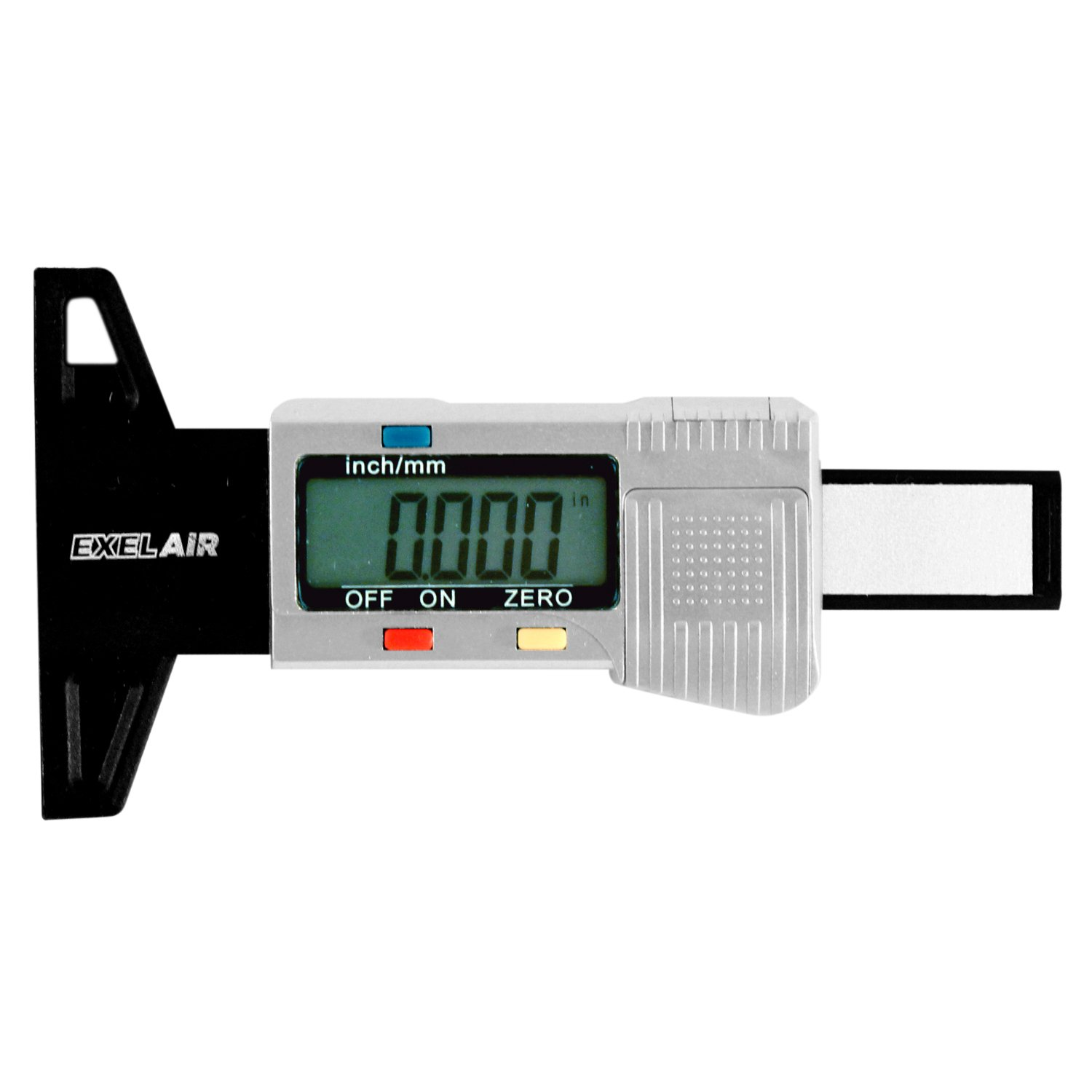 ExelAir EX448DIG Black/Silver Digital Tire Tread Depth Gauge