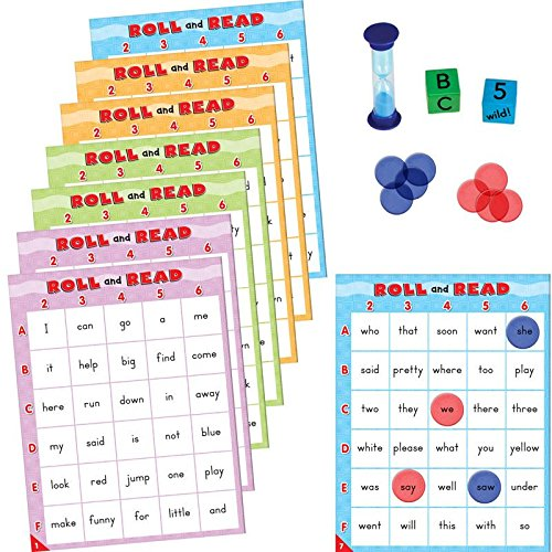 Really Good Stuff Roll & Read: Pre-Primer & Primer Dolch Words Game