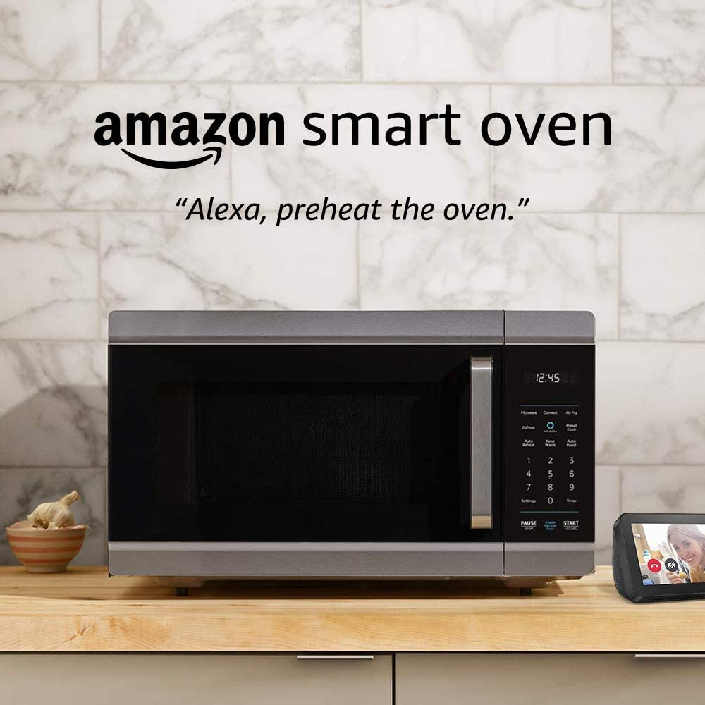 Amazon Smart Oven, a Certified for Humans device – plus Echo Show 5 (Charcoal)
