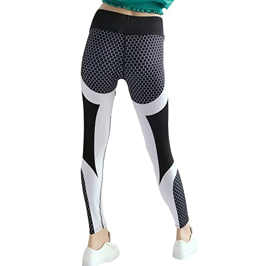 Amazon.com: eroute66 Sports Honeycomb Women Yoga Pants ...