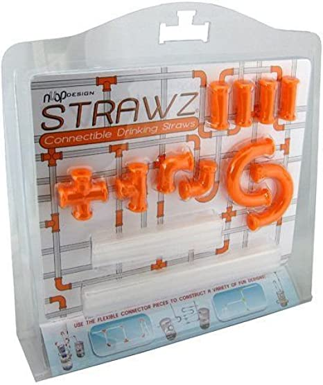 Nuop Design Green Connectible Drinking Straw Kit 44 Pieces