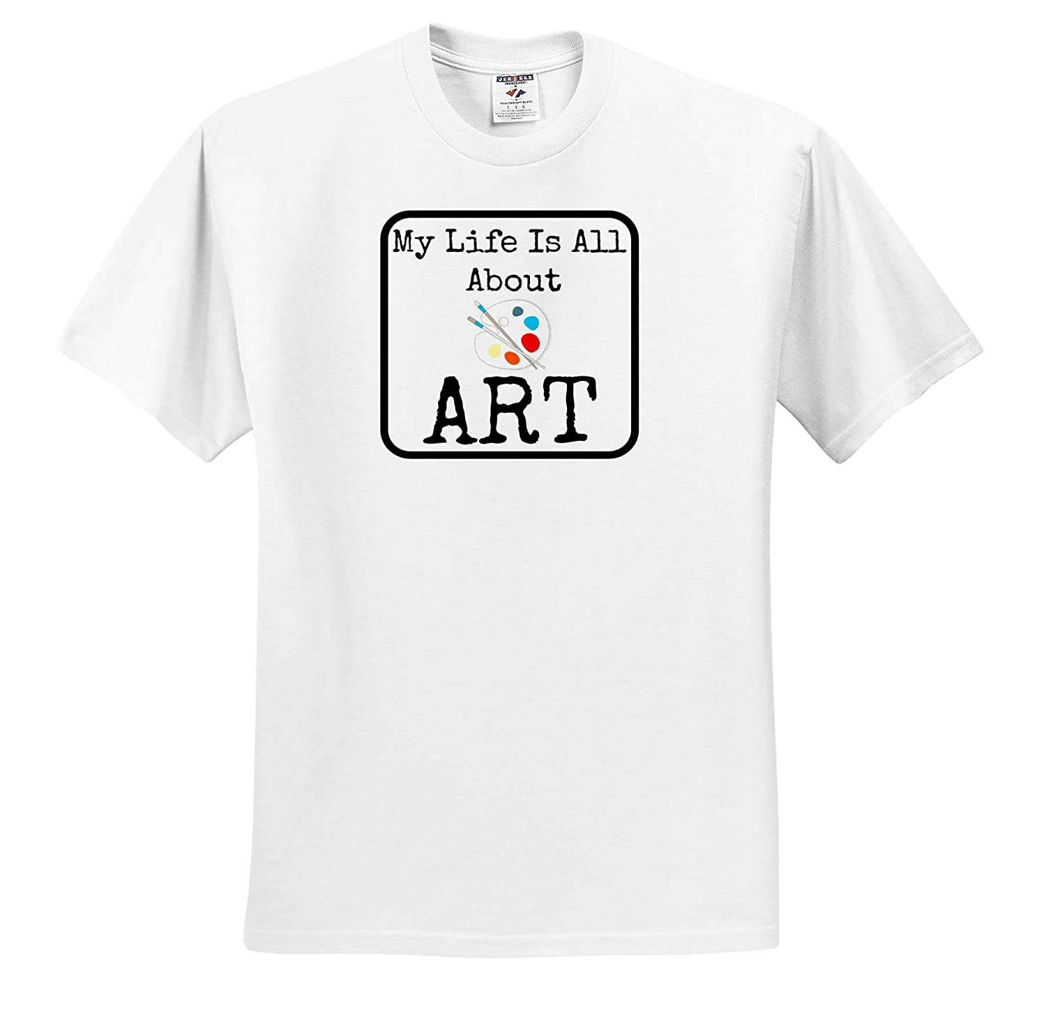 3dRose Carrie Quote Image Image of My Life is All About Art ts/_320203 Adult T-Shirt XL