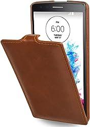 StilGut® UltraSlim Case, custodia in pelle per LG G3s, cognac