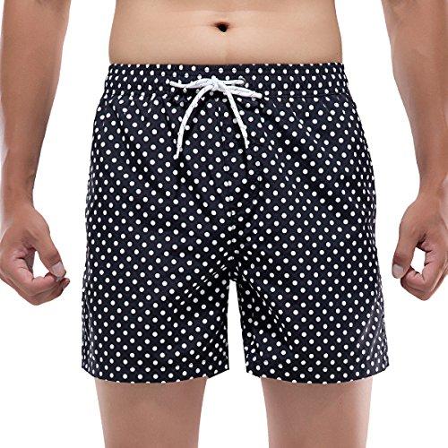 Akula Men Quick Dry Surf Board Shorts Floral Print Swim Trunks With Mesh Lining (Floral Nylon Shorts)