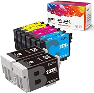 ejet Remanufactured Ink Cartridge Replacement for Epson T252XL 252XL 252 to use with Workforce WF-7710 WF-7720 WF-3620 WF-3640 WF-7610 WF-7620 WF-3630 Printer 8 Pack