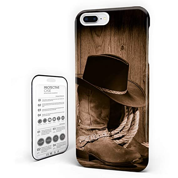 amazon com customize phone protective cover cowboy hat and oldcustomize phone protective cover cowboy hat and old ranching rope on wooden display rodeo cowboy style