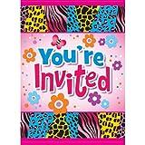 Wild Birthday Invitations, 8ct