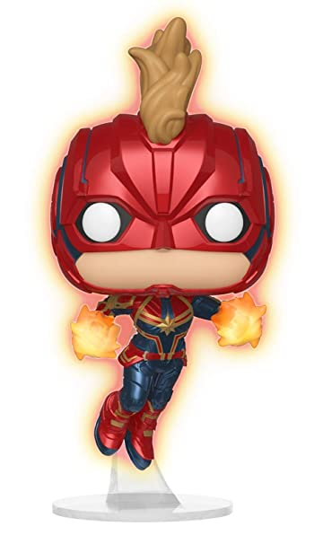 4ba9b940a8 Funko Pop Captain Marvel 433 Flying Glows in The Dark: Amazon.com.br ...